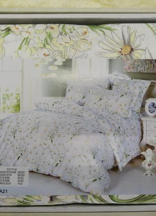 Комплект постельного белья в ромашки. постель эвро 230*250 в п...