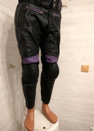 Мужские кожаные  мотоштаны