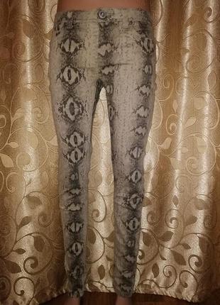 🌺🎀🌺стильные женские джинсы в змеиный принт parisian🔥🔥🔥