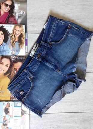 Короткие шорты джинсовые topshop