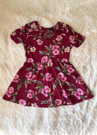 Красивое бордовое марсала платье new look большой размер 18, 56