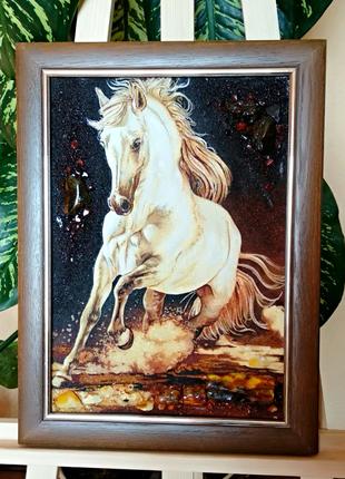 Картина из янтаря 30*40см