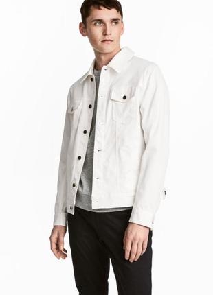Мужская белая джинсовая куртка