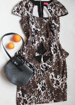 Трендовое леопардовое платье, размер 2xl