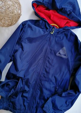 Ветровка синяя на мальчика дождевик, куртка