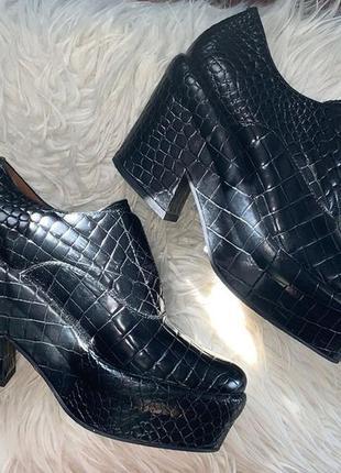 Кожаные туфли на платформе & other stories