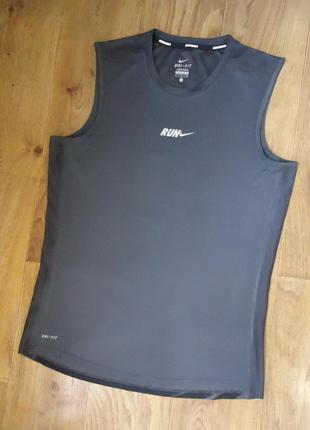 Майка nike run dri fit спортивная футболка