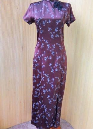 Американское платье цветочный принт в восточном стиле pandora xs