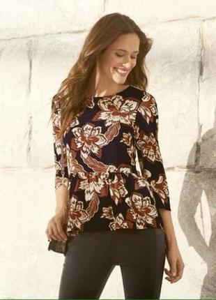 Стильная блуза esmara с баской 42 44 eur