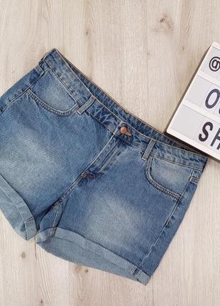 Синие джинсовые шорты,голубые шорты из плотного денима