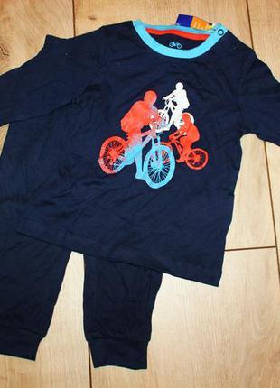 Хлопковая пижама lupilu германия р.86-92 на 1-2 года