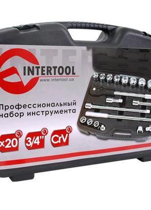 """Профессиональный набор инструмента 3/4"""", 20 ед(гол. 19-50 мм)INTE"""