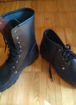 Берцы и ботинки демисезонные кожаные.Обувь для военных,работы,...
