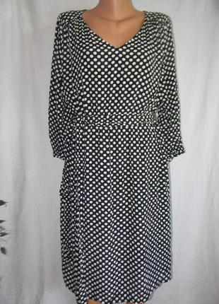 Натуральное платье в горошек h&m