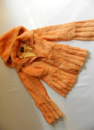 Куртка мех кролик кожа