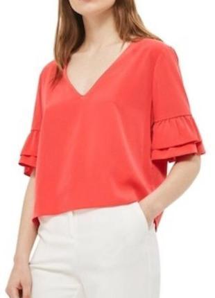 Красивая блуза топ topshop с завязками сзади и оборками