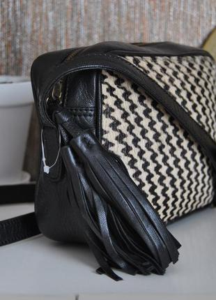 Кожаная сумка кроссбоди beck söndergaard мех пони/шкіряна сумка