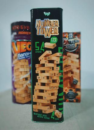 Настольная игра Дженга NUMBER TOWER Danko Toys