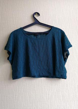 Кружевной топ pieces accessories укороченная футболка кроп топ...