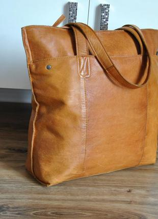 Кожаная сумка шоппер varese / шкіряна сумка