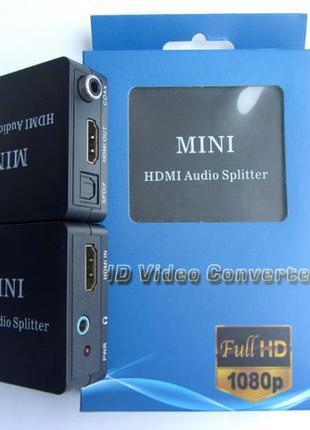 HDMI аудио Splitter Optical Coaxial, mini jack 3.5 оптический ...
