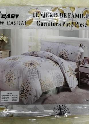Постельный комплект семейный с двумя пододеяльниками. постель ...