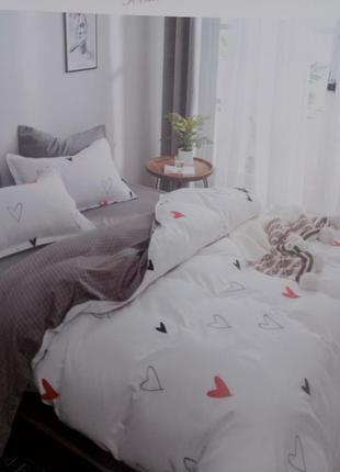 Комплект постельного белья mency house двуспальный, на резинке