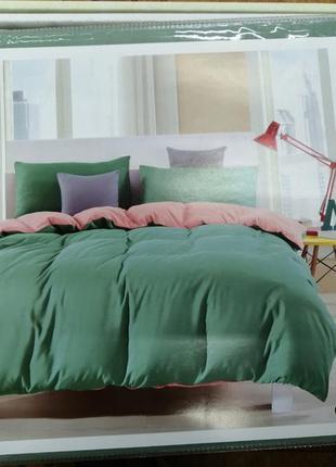 Комплект постельного белья mency двуспальный. двухцветная пост...