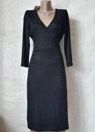 Фирменное f&f шикарное платье миди с фактурным рисунком и пояс...