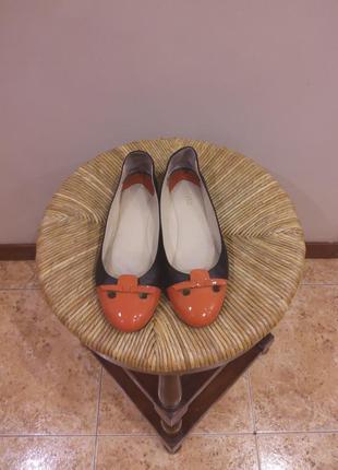 Кожаные балетки туфли poletto раз. 39 (26)
