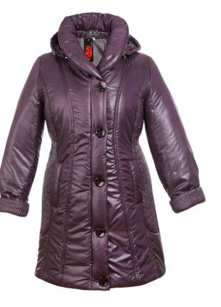 Тёплое зимнее пальто. большой размер. зимняя курточка