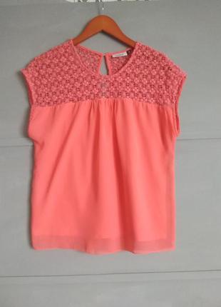 Красивая блуза.  комбинироаанная майка.  топ. футболка