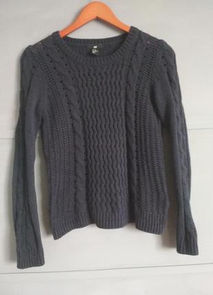 Красивый свитер. косы.  джемпер. пуловер.  ажурная кофта