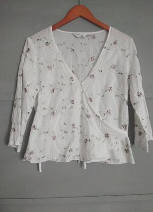 Нежнейшая кофточка. вышитые цветы.натуральная блуза.футболка.н...