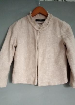 Жакет . кардиган . накидка. в стиле шанель . укороченный пиджак