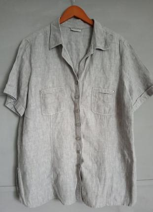 Качественная женская рубашка. лен. льняная рубашка . натуральн...