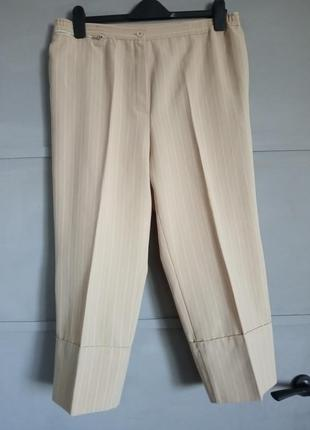 Укороченные брюки. стильные брюки. брюки в полоску. кюлоты. бо...