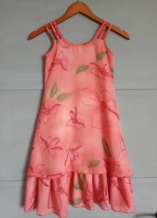 Нарядный сарафан. красивое платье. цветы