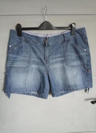 Женские джинсовые шорты . большой размер . батал