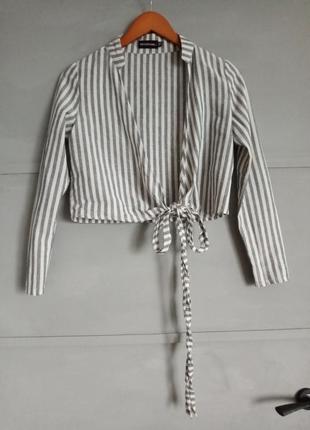 Рубашка с запахом.  рубашка в полоску . накидка .