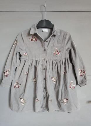 Шикарное платье рубашка . на девочку . сарафан. платье с вышив...