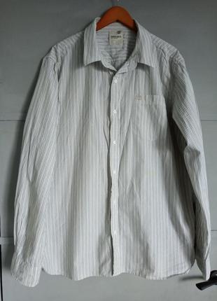 Качественная мужская рубашка. полосатая рубашка. тимберленд. б...
