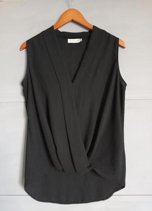 Мега крутая блуза. total black. черная майка. удлиненная майка