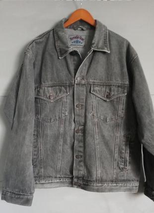 Винтажная джинсовка. джинсовая куртка. пиджак. батал . большой...