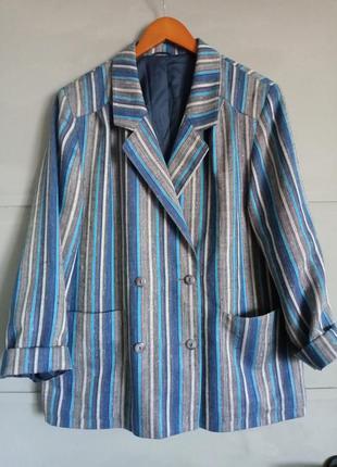 Мега крутой пиджак . жакет . большой размер. батал. королевски...