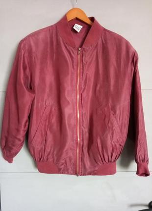 Шелковый бомбер. куртка. курточка