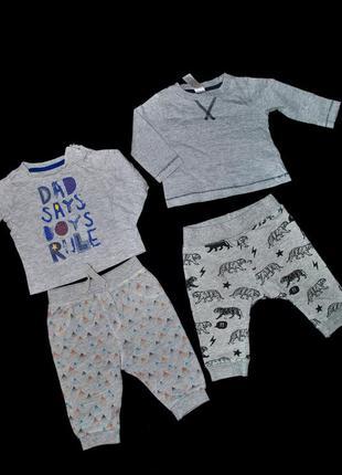 Набор лот одежды для мальчика 3-6 мес реглан и штаны бренд сти...