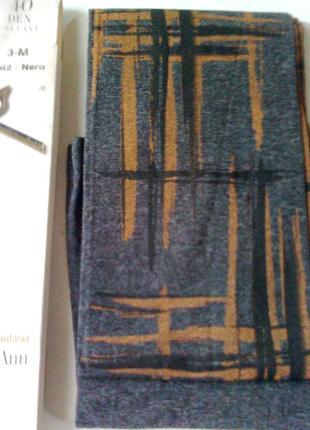 Модные колготки gatta 2-s 40 den в стиле арт-деко, европейское...