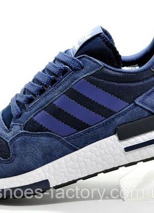 Кроссовки мужские Adidas ZX500 RM Boost, Синий, купить со скидкой