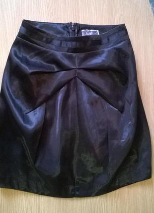 Фирменная юбка тюльпан р.s с отливом lipsy от next, стиль, кре...